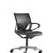 contemporary executive chair / leather / aluminum / on casters