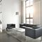 contemporary coffee table / wooden / glass / rectangular
