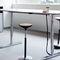 contemporary table / metal / metal base / rectangular