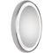 wall-mounted bathroom mirror / LED-illuminated / contemporary / oval