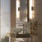 contemporary wall light / bathroom / metal / glass
