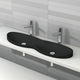 double washbasin / built-in / ceramic / contemporary