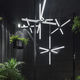 pendant lamp / contemporary / crystal / LED