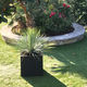 contemporary stool / rubber / with planter / outdoor