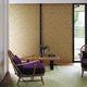 contemporary wallpaper / geometric pattern / metallic look / golden
