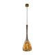 pendant lamp / contemporary / painted steel / blown glass