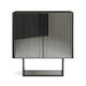 high sideboard / contemporary / wooden / stainless steel