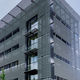 metal solar shading / for facade / horizontal / perforated