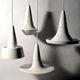 pendant lamp / contemporary / ceramic / white