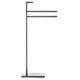 2-bar towel rack / floor-standing / chromed metal / for hotels