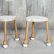 contemporary stool / wooden / stackable
