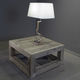 contemporary coffee table / wooden / square / handmade