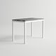 contemporary high bar table / aluminum / rectangular / garden
