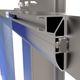 aluminum profile / anodized aluminum / for taxtile cladding / sun protection