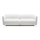 contemporary sofa / fabric / 2-person / white