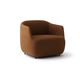 contemporary armchair / fabric / brown