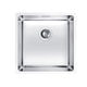 single-bowl kitchen sink / stainless steel / undermount / square