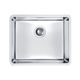single-bowl kitchen sink / stainless steel / undermount / without drainboard