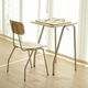 contemporary table and chair set / plywood / birch / aluminum