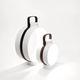 portable lamp / porcelain / leather / contemporary