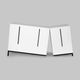 original design sideboard / lacquered MDF / contract / white