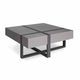 contemporary coffee table / lacquered MDF / wooden base / square