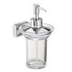 wall-mounted soap dispenser / chrome / manual