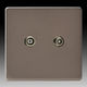 TV socket / wall-mounted / metal / contemporary