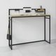 contemporary sideboard table / oak / solid wood / powder-coated steel