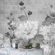 contemporary wallpaper / cellulose fiber / natural fiber / floral