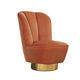 contemporary armchair / fabric / polished brass / swivel