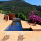 wall swimming pool / in-ground / wooden / outdoor