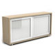 low filing cabinet / wooden / with sliding door / contemporary