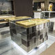 contemporary kitchen / stainless steel / laminate / compact