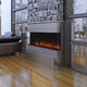 electric fireplace / contemporary / closed hearth / 3-sided