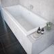bathtub with legs / thermal / acrylic / white