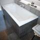 free-standing bathtub / thermal / acrylic / white