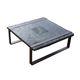 rustic coffee table / ash / steel / square
