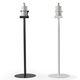 hand sanitizer dispenser stand / with glove dispenser / steel / commercial