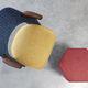 upholstery fabric / geometric pattern / cotton / wool