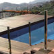 automatic swimming pool cover / security / with rods / immersed