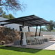 pergola cover with solar protection / canvas / home / commercial