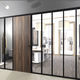 modular partition / glass / aluminum / for offices