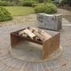 wood-burning fire pit / steel / contemporary