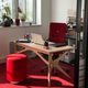 varnished wood desk / contemporary / commercial