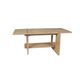 contemporary coffee table / varnished wood / rectangular / outdoor