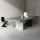 contemporary dining table / metal / concrete / composite