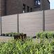 fence with panels / aluminum / padouk / garden