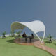 metal frame tensile structure / arch / for shelters / for public spaces