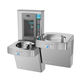 wall-mounted drinking fountain / built-in / indoor / galvanized steel